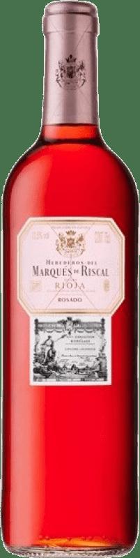 6,95 € Spedizione Gratuita | Vino rosato Marqués de Riscal D.O.Ca. Rioja La Rioja Spagna Tempranillo, Grenache Bottiglia 75 cl