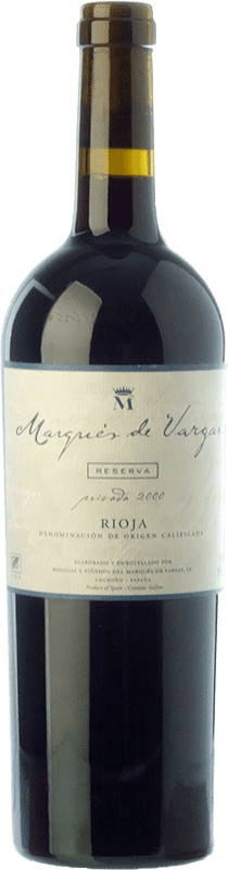 46,95 € Free Shipping | Red wine Marqués de Vargas Reserva Privada Reserva D.O.Ca. Rioja The Rioja Spain Tempranillo, Grenache, Mazuelo Bottle 75 cl