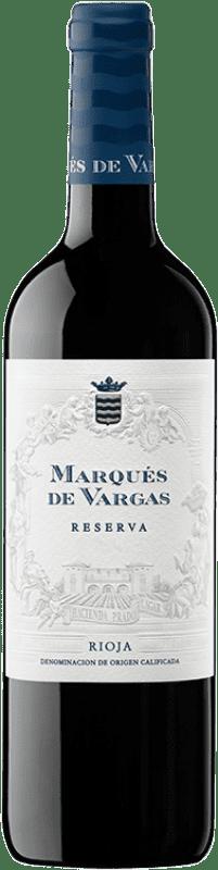 21,95 € Envío gratis | Vino tinto Marqués de Vargas Reserva D.O.Ca. Rioja La Rioja España Tempranillo, Garnacha, Mazuelo Botella 75 cl