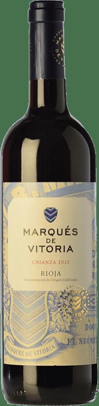 6,95 € Free Shipping | Red wine Marqués de Vitoria Crianza D.O.Ca. Rioja The Rioja Spain Tempranillo Bottle 75 cl