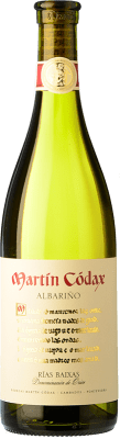 9,95 € Spedizione Gratuita | Vino bianco Martín Códax D.O. Rías Baixas Galizia Spagna Albariño Bottiglia 75 cl