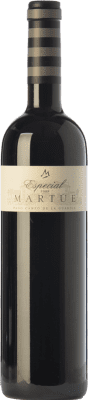 18,95 € Free Shipping | Red wine Martúe Especial Crianza D.O.P. Vino de Pago Campo de la Guardia Castilla la Mancha Spain Merlot, Syrah, Cabernet Sauvignon Bottle 75 cl