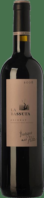 72,95 € Free Shipping | Red wine Mas Alta La Basseta Crianza D.O.Ca. Priorat Catalonia Spain Merlot, Syrah, Grenache, Carignan Bottle 75 cl