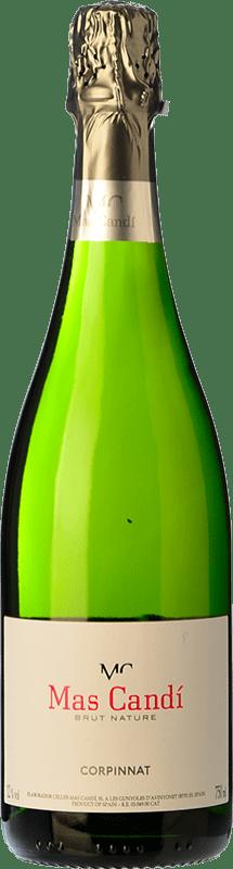 9,95 € Envío gratis | Espumoso blanco Mas Candí Brut Nature Reserva D.O. Cava Cataluña España Macabeo, Xarel·lo, Parellada Botella 75 cl