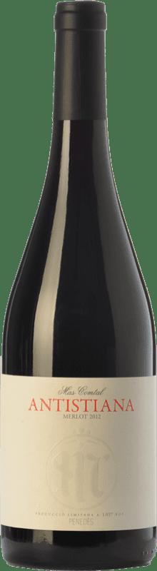 12,95 € Free Shipping | Red wine Mas Comtal Antistiana Crianza D.O. Penedès Catalonia Spain Merlot Bottle 75 cl