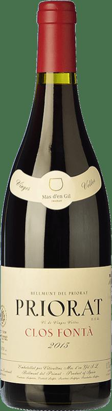 57,95 € Free Shipping | Red wine Mas d'en Gil Clos Fontà Crianza D.O.Ca. Priorat Catalonia Spain Grenache, Cabernet Sauvignon, Carignan, Grenache Hairy Bottle 75 cl