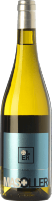12,95 € Free Shipping | White wine Mas Oller Mar Blanc D.O. Empordà Catalonia Spain Malvasía, Picapoll Bottle 75 cl