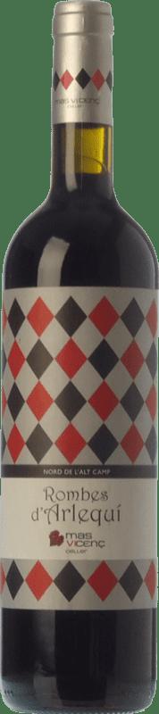17,95 € Free Shipping | Red wine Mas Vicenç Rombes d'Arlequí Crianza D.O. Tarragona Catalonia Spain Tempranillo, Cabernet Sauvignon Bottle 75 cl