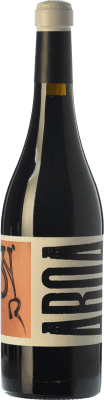 29,95 € Free Shipping | Red wine Masia Serra Aroa Crianza D.O. Empordà Catalonia Spain Grenache, Marcelan Bottle 75 cl