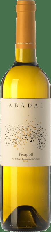 9,95 € Envío gratis | Vino blanco Masies d'Avinyó Abadal D.O. Pla de Bages Cataluña España Picapoll Botella 75 cl