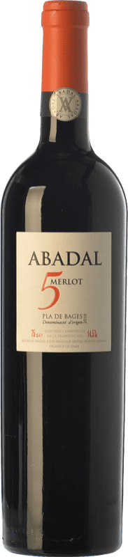 17,95 € Free Shipping | Red wine Masies d'Avinyó Abadal 5 Crianza D.O. Pla de Bages Catalonia Spain Merlot Bottle 75 cl