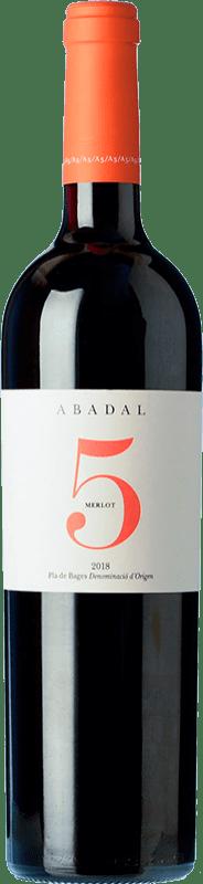 17,95 € Envío gratis | Vino tinto Masies d'Avinyó Abadal 5 Crianza D.O. Pla de Bages Cataluña España Merlot Botella 75 cl