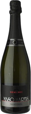 21,95 € Free Shipping | White sparkling Maso Martis Demi-Sec D.O.C. Trento Trentino Italy Pinot Black, Chardonnay Bottle 75 cl. | Thousands of wine lovers trust us to get the best price guarantee, free shipping always and hassle-free shopping and returns.
