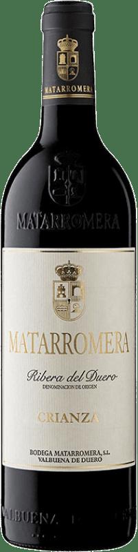 18,95 € Envoi gratuit | Vin rouge Matarromera Crianza D.O. Ribera del Duero Castille et Leon Espagne Tempranillo Bouteille 75 cl