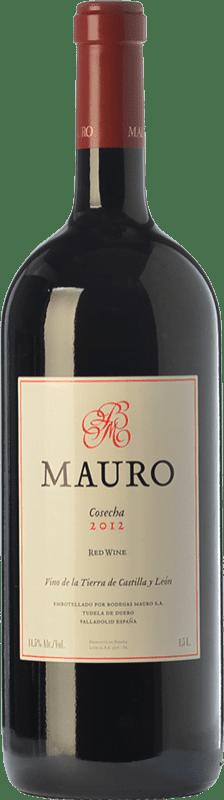 65,95 € Kostenloser Versand | Rotwein Mauro Crianza I.G.P. Vino de la Tierra de Castilla y León Kastilien und León Spanien Tempranillo, Syrah Magnum-Flasche 1,5 L