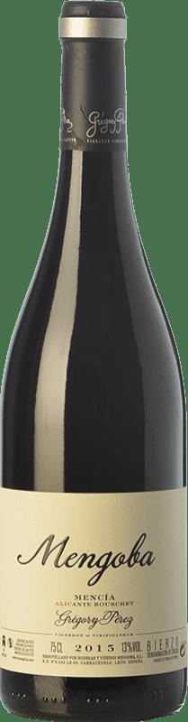18,95 € Free Shipping | Red wine Mengoba Mencía Alicante Bouschet Crianza D.O. Bierzo Castilla y León Spain Mencía, Grenache Tintorera Bottle 75 cl