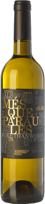 9,95 € Free Shipping | White wine Més Que Paraules Blanc D.O. Catalunya Catalonia Spain Chardonnay, Sauvignon White, Picapoll Bottle 75 cl