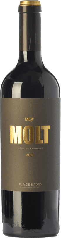 28,95 € Free Shipping | Red wine Més Que Paraules Molt Crianza D.O. Pla de Bages Catalonia Spain Cabernet Sauvignon Bottle 75 cl