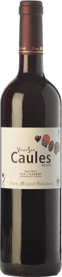 8,95 € Free Shipping | Red wine Miquel Gelabert Vinya Son Caules Negre Crianza D.O. Pla i Llevant Balearic Islands Spain Tempranillo, Syrah, Callet, Fogoneu, Mantonegro Bottle 75 cl