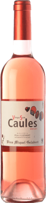 7,95 € Free Shipping | Rosé wine Miquel Gelabert Vinya Son Caules Rosat D.O. Pla i Llevant Balearic Islands Spain Tempranillo, Syrah, Pinot Black, Callet, Mantonegro Bottle 75 cl