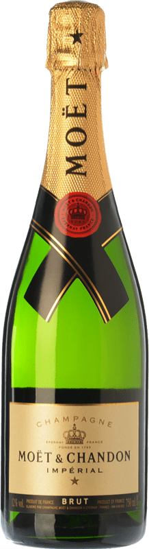 33,95 € Free Shipping | White sparkling Moët & Chandon Impérial Brut Reserva A.O.C. Champagne Champagne France Pinot Black, Chardonnay, Pinot Meunier Bottle 75 cl