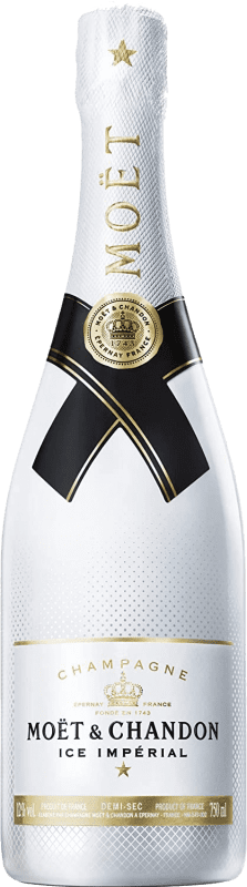 55,95 € Free Shipping | White sparkling Moët & Chandon Ice Impérial A.O.C. Champagne Champagne France Pinot Black, Chardonnay, Pinot Meunier Bottle 75 cl