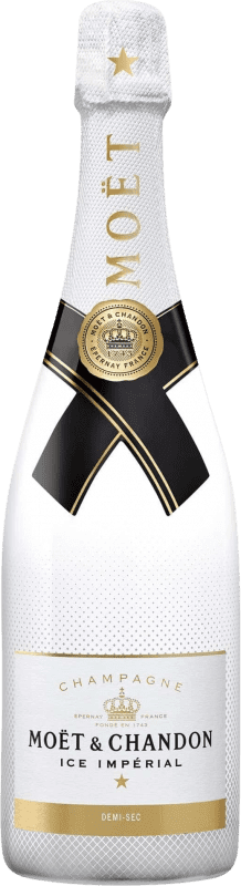 106,95 € Free Shipping | White sparkling Moët & Chandon Ice Impérial A.O.C. Champagne Champagne France Pinot Black, Chardonnay, Pinot Meunier Magnum Bottle 1,5 L