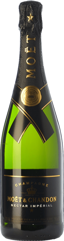 52,95 € Free Shipping | White sparkling Moët & Chandon Néctar Imperial A.O.C. Champagne Champagne France Pinot Black, Chardonnay, Pinot Meunier Bottle 75 cl