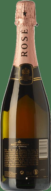 45,95 € Free Shipping | Rosé sparkling Moët & Chandon Rosé Impérial Reserva A.O.C. Champagne Champagne France Pinot Black, Chardonnay, Pinot Meunier Bottle 75 cl