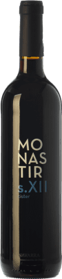 8,95 € Free Shipping | Red wine Monastir S. XII Cister Crianza D.O. Navarra Navarre Spain Tempranillo, Merlot, Cabernet Sauvignon Bottle 75 cl
