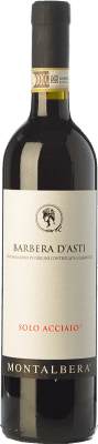 11,95 € Free Shipping | Red wine Montalbera Solo Acciaio D.O.C. Barbera d'Asti Piemonte Italy Barbera Bottle 75 cl