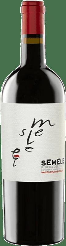 11,95 € 送料無料 | 赤ワイン Montebaco Semele Crianza D.O. Ribera del Duero カスティーリャ・イ・レオン スペイン Tempranillo, Merlot ボトル 75 cl