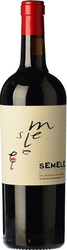 11,95 € Kostenloser Versand | Rotwein Montebaco Semele Crianza D.O. Ribera del Duero Kastilien und León Spanien Tempranillo, Merlot Flasche 75 cl