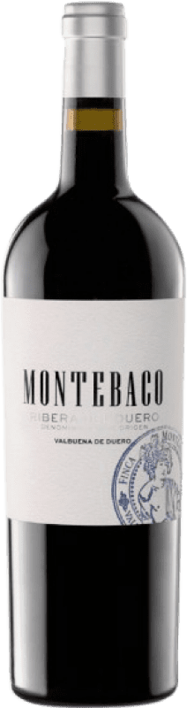 18,95 € Spedizione Gratuita | Vino rosso Montebaco Crianza D.O. Ribera del Duero Castilla y León Spagna Tempranillo Bottiglia 75 cl