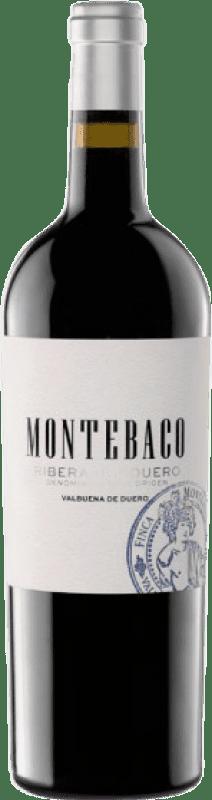 18,95 € Envío gratis | Vino tinto Montebaco Crianza D.O. Ribera del Duero Castilla y León España Tempranillo Botella 75 cl