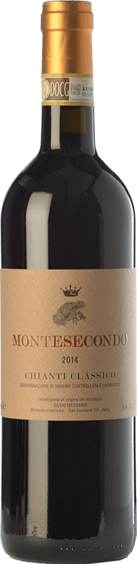 24,95 € Free Shipping | Red wine Montesecondo D.O.C.G. Chianti Classico Tuscany Italy Sangiovese, Colorino, Canaiolo Bottle 75 cl