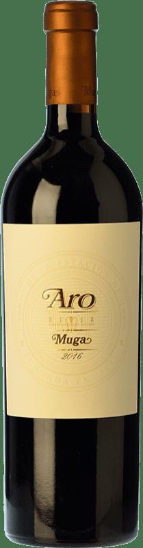186,95 € Envío gratis | Vino tinto Muga Aro Crianza 2010 D.O.Ca. Rioja La Rioja España Tempranillo, Graciano Botella 75 cl