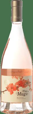 22,95 € 免费送货 | 玫瑰酒 Muga Flor D.O.Ca. Rioja 拉里奥哈 西班牙 Grenache 瓶子 75 cl