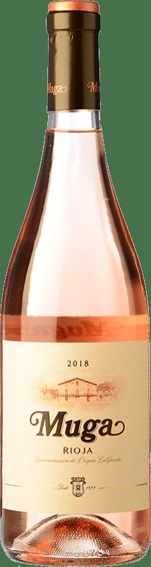 9,95 € Spedizione Gratuita | Vino rosato Muga D.O.Ca. Rioja La Rioja Spagna Tempranillo, Grenache, Viura Bottiglia 75 cl