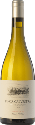 19,95 € Envío gratis | Vino blanco Mustiguillo Finca Calvestra Crianza D.O.P. Vino de Pago El Terrerazo Comunidad Valenciana España Merseguera Botella 75 cl