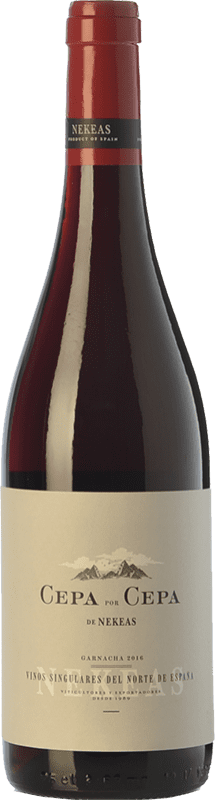 7,95 € Free Shipping | Red wine Nekeas Cepa por Cepa Garnacha Joven D.O. Navarra Navarre Spain Tempranillo, Grenache Bottle 75 cl