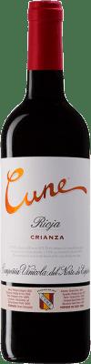 8,95 € Envoi gratuit | Vin rouge Norte de España - CVNE Cune Crianza D.O.Ca. Rioja La Rioja Espagne Tempranillo, Grenache, Mazuelo Bouteille 75 cl