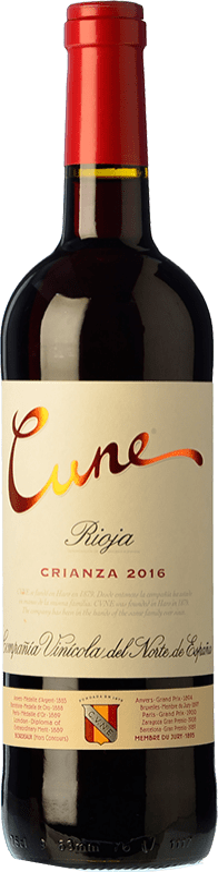 7,95 € Free Shipping | Red wine Norte de España - CVNE Cune Crianza D.O.Ca. Rioja The Rioja Spain Tempranillo, Grenache, Mazuelo Bottle 75 cl
