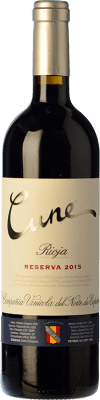 12,95 € Free Shipping | Red wine Norte de España - CVNE Cune Reserva D.O.Ca. Rioja The Rioja Spain Tempranillo, Grenache, Graciano, Mazuelo Bottle 75 cl