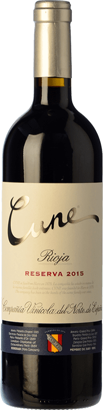 14,95 € Free Shipping | Red wine Norte de España - CVNE Cune Reserva D.O.Ca. Rioja The Rioja Spain Tempranillo, Grenache, Graciano, Mazuelo Bottle 75 cl