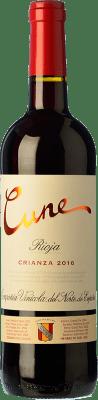 8,95 € Envoi gratuit | Vin rouge Norte de España - CVNE Cune Crianza D.O.Ca. Rioja La Rioja Espagne Tempranillo, Grenache, Mazuelo Demi Bouteille 50 cl