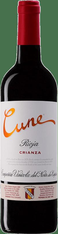 16,95 € Free Shipping | Red wine Norte de España - CVNE Cune Crianza D.O.Ca. Rioja The Rioja Spain Tempranillo, Grenache, Mazuelo Magnum Bottle 1,5 L