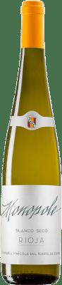 5,95 € 免费送货 | 白酒 Norte de España - CVNE Monopole D.O.Ca. Rioja 拉里奥哈 西班牙 Viura 瓶子 75 cl | 成千上万的葡萄酒爱好者信赖我们,保证最优惠的价格,免费送货,购买和退货,没有复杂性.