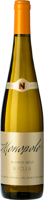 5,95 € Envio grátis | Vinho branco Norte de España - CVNE Monopole D.O.Ca. Rioja La Rioja Espanha Viura Garrafa 75 cl | Milhares de amantes do vinho confiam em nós com a garantia do melhor preço, envio sempre grátis e compras e devoluções sem complicações.