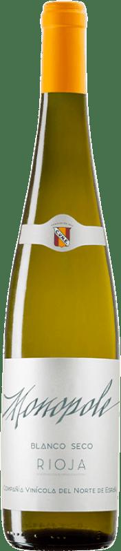 6,95 € Spedizione Gratuita | Vino bianco Norte de España - CVNE Monopole D.O.Ca. Rioja La Rioja Spagna Viura Bottiglia 75 cl